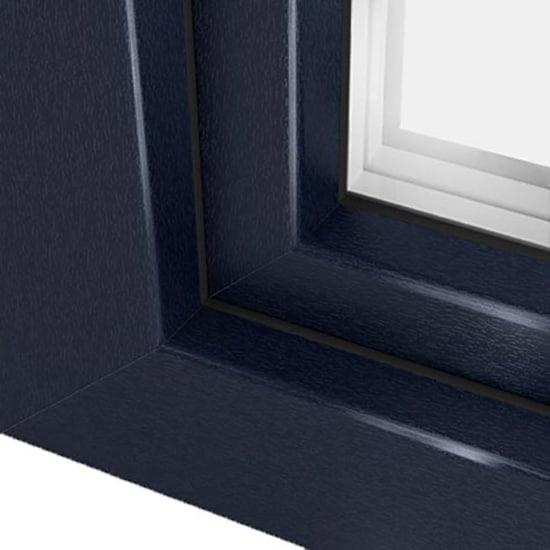 fen tre pvc bleu acier avec film couleur ultra r sistant. Black Bedroom Furniture Sets. Home Design Ideas