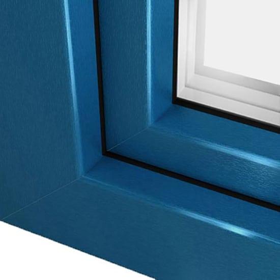 Fen tre pvc bleu brillant avec film couleur ultra r sistant for Menuiserie pvc couleur