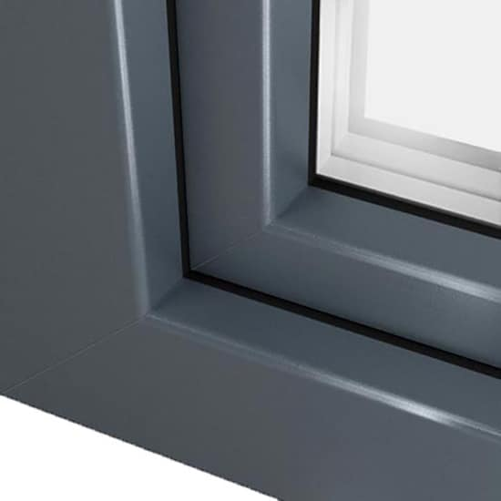 Pin ral 7012 on pinterest for Fenetre pvc gris anthracite