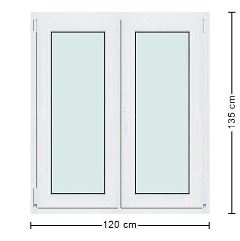 Fen tre 120x135 pvc taille standard performances uniques for Fenetre panoramique dimension standard