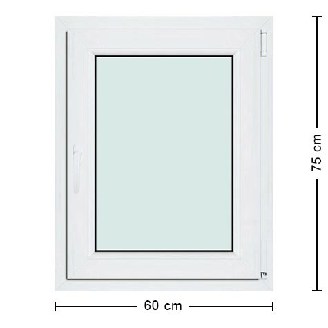 Fen tre pvc 60x75 fen tre standard 1 vantail pas ch re for Standard fenetre dimension