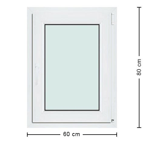 Fen tre pvc 60x80 fen tre standard pas ch re 1 battant for Dimension fenetre standard pvc
