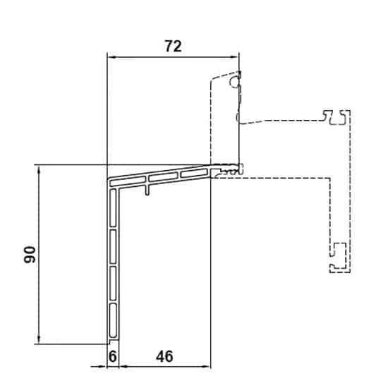 Fenêtres PVC accessoires bavette en réno 90x72mm