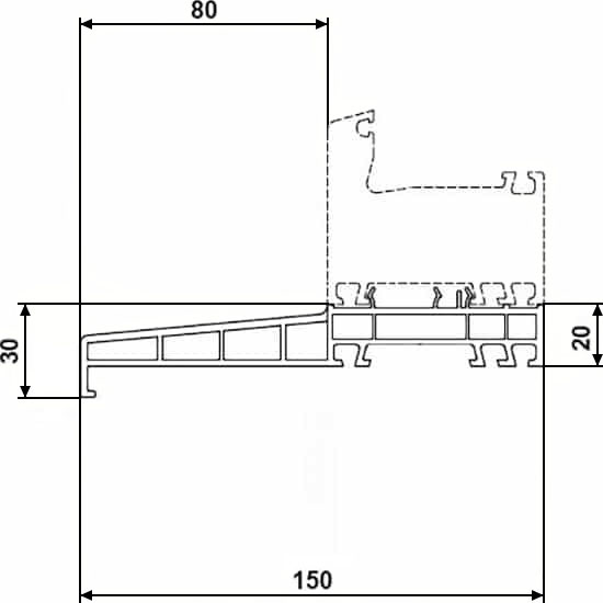 Fenêtres PVC accessoires pièce d'appui 20x150mm