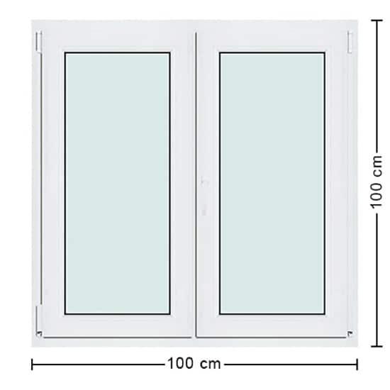 Fenêtres PVC de dimensions : 100x100cm
