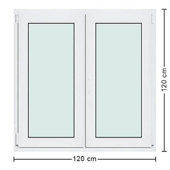 Fenêtres PVC de dimensions : 120x120cm