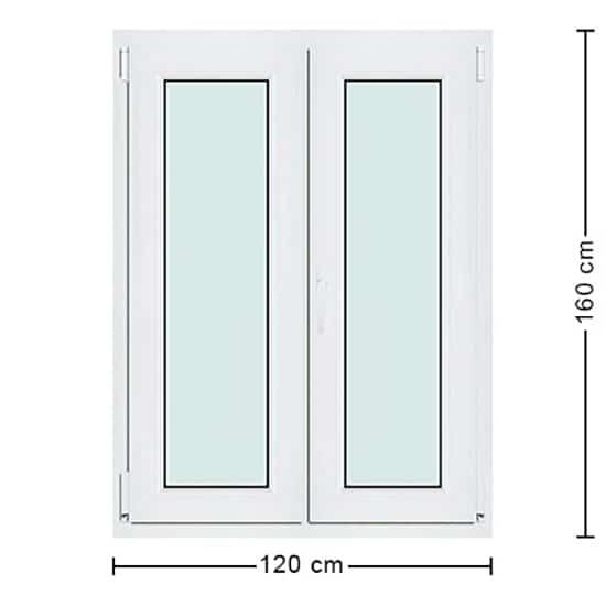 Fenêtres PVC de dimensions : 120x160cm