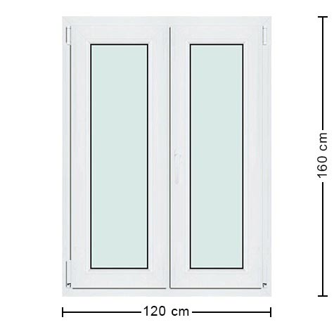 Fen tre pvc 120x160 une fen tre haute sur mesure pas ch re for Standard fenetre dimension