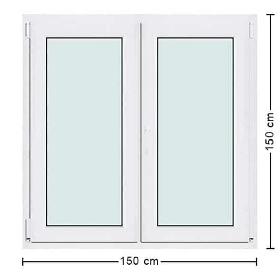 Fenêtres PVC de dimensions : 150x150cm