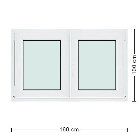 Fen tre large 160x100 en pvc de qualit prix comp titif for Dimension de fenetre standard