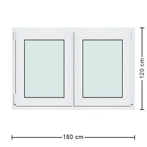 Fen tre pvc 180x120 cm rectangulaire grand mod le large for Dimension fenetre pvc