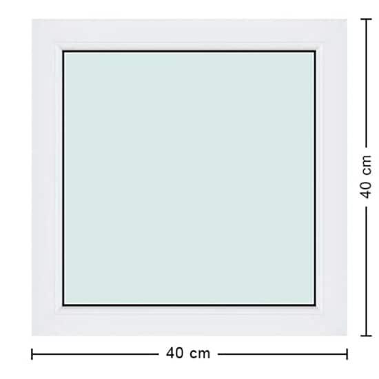 Fenêtres PVC de dimensions : 40x40cm