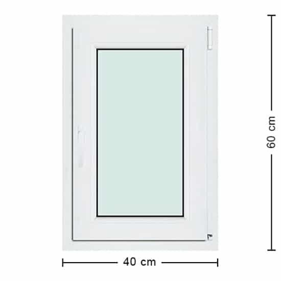 Fenêtres PVC de dimensions : 40x60cm