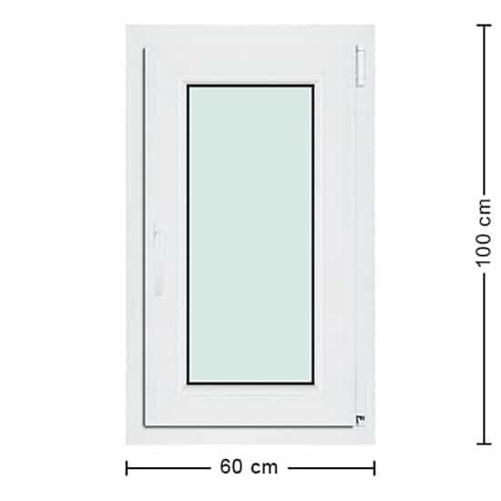 Fenêtres PVC de dimensions : 60x100cm