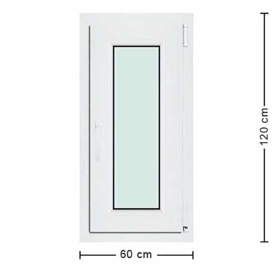Fenêtres PVC de dimensions : 60x120cm