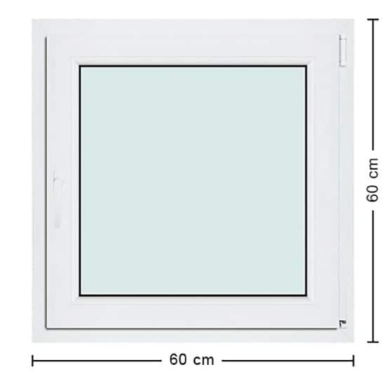 Fenêtres PVC de dimensions : 60x60cm