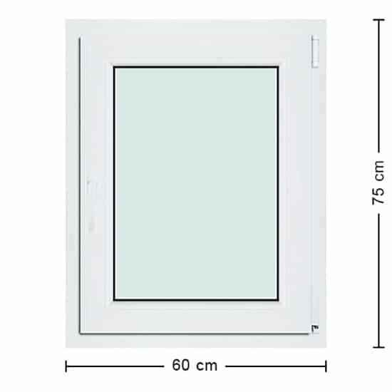 Fenêtres PVC de dimensions : 60x75cm