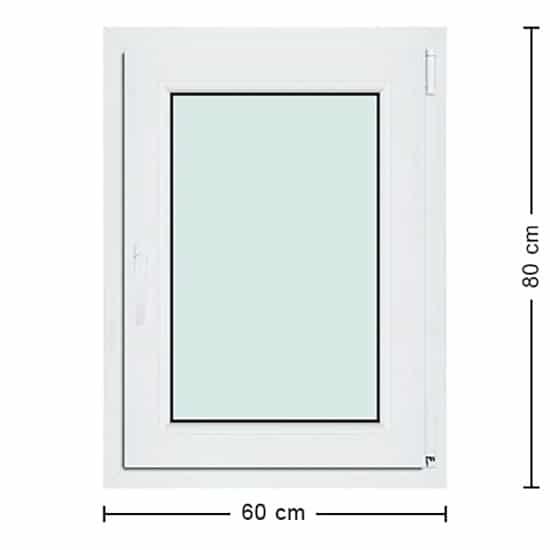 Fenêtres PVC de dimensions : 60x80cm