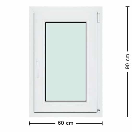 Fenêtres PVC de dimensions : 60x90cm