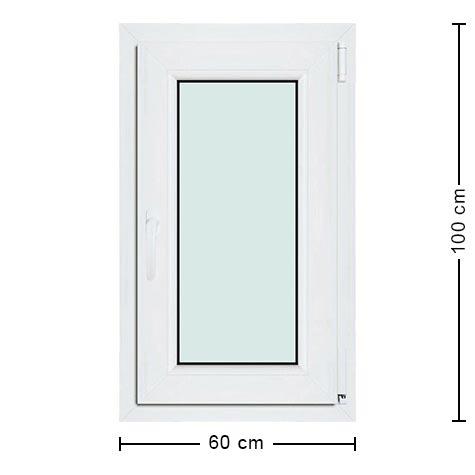 Fenêtre Pvc 60x100 Fenêtre Idéale Pour Les Pièces Confinées