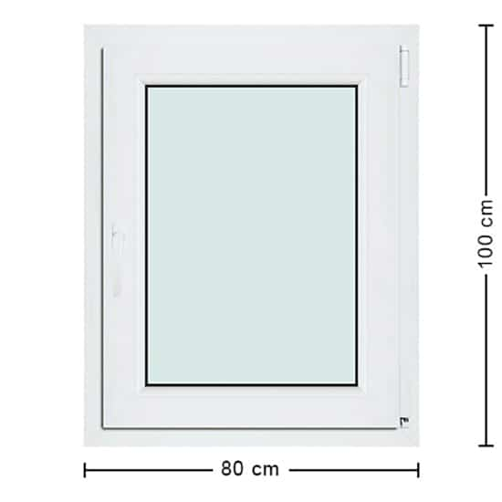 Fenêtres PVC de dimensions : 80x100cm