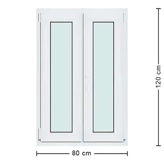 Fenêtres PVC de dimensions : 80x120cm