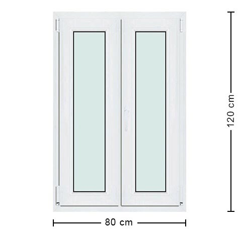 Fen tre pvc 80x120 menuiserie standard 2 vantaux pas ch re for Fenetre panoramique dimension standard