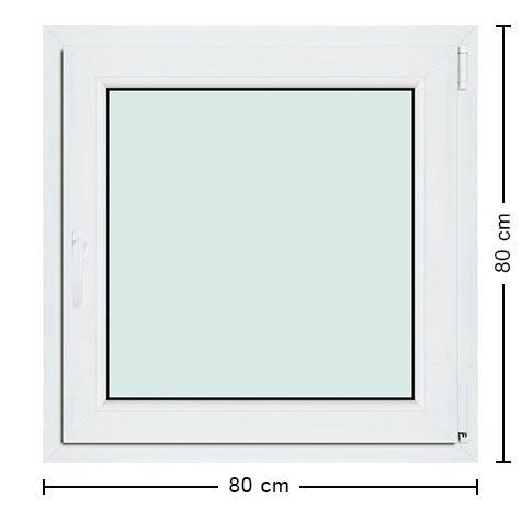 Fen tre carr e 80x80 en pvc robuste et pas cher sur mesure for Petite fenetre de toilette