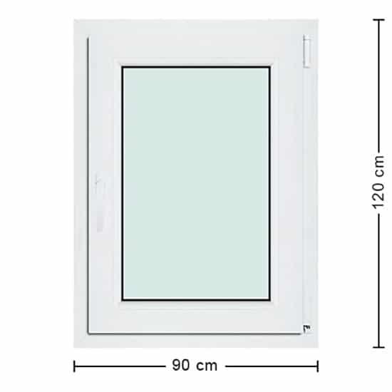 Fenêtres PVC de dimensions : 90x120cm