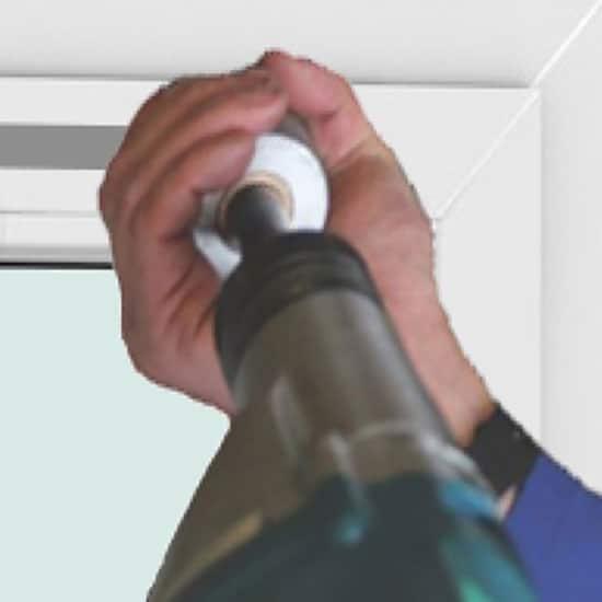 Fenêtres PVC avec perçage de mortaise, sans ventilations