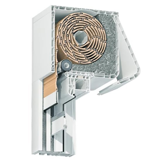 Fenêtre PVC avec volet roulant intégré : bloc baie discret