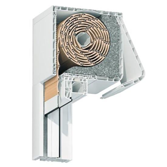 Fenêtres PVC avec volet roulant intégré caisson compact
