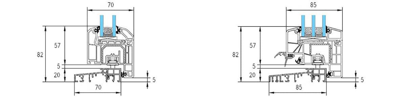 Porte fen tre seuil plat pvc 20 mm seuil quasi invisible for Norme pmr cheminement exterieur